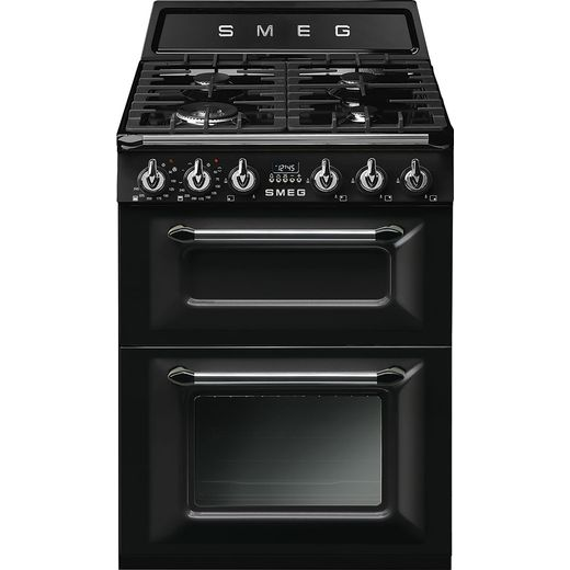 Smeg Victoria TR62BL Dual Fuel Cooker - Black - Needs 5.5KW Electrical Connection