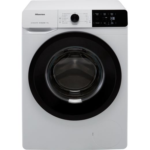 Hisense WFGE90141VM 9Kg Washing Machine with 1400 rpm - White - B Rated