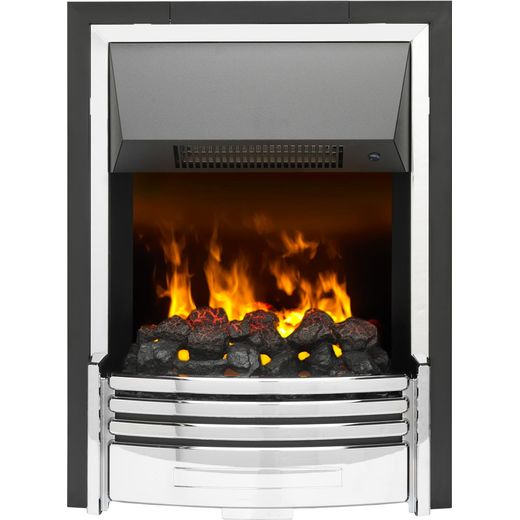 Dimplex Pomona POM20 Coal Bed Inset Fire With Remote Control - Chrome