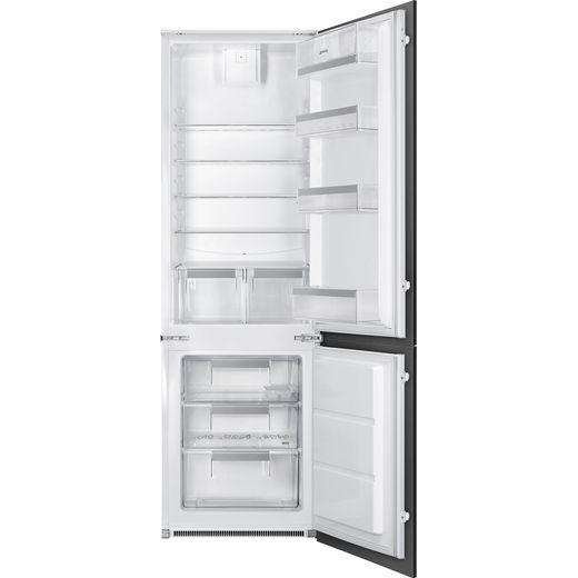 Smeg UKC81721F Integrated 70/30 Fridge Freezer with Sliding Door Fixing Kit - White - F Rated