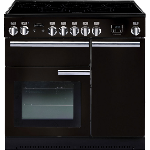 Rangemaster Professional Plus PROP90EIGB/C 90cm Electric Range Cooker with Induction Hob - Black - A/A Rated