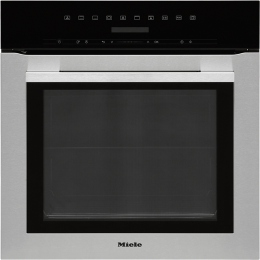 Miele ContourLine H7164B Built In Electric Single Oven - Clean Steel