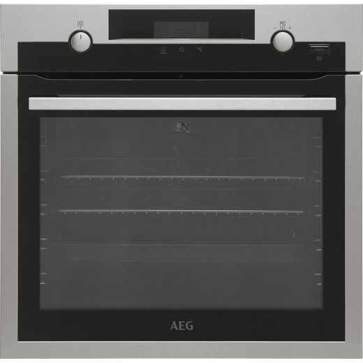 AEG BPS555020M Built In Electric Single Oven - Stainless Steel / Black