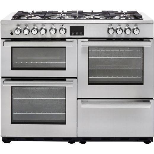 Belling Cookcentre110DFT Prof 110cm Dual Fuel Range Cooker - Stainless Steel - A/A Rated