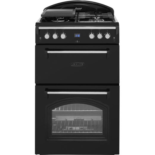 Leisure Gourmet GRB6GVK 60cm Gas Cooker with Full Width Gas Grill - Black - A+/A Rated