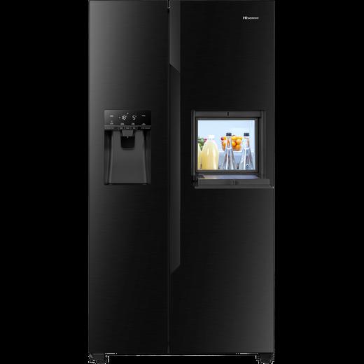 Hisense RS694N4BBF American Fridge Freezer - Black - F Rated