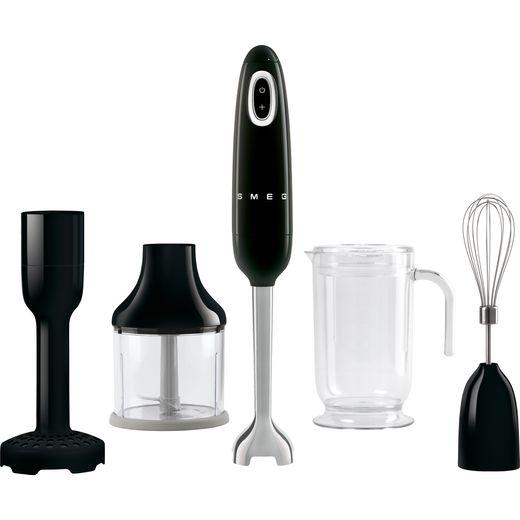 Smeg 50's Retro HBF02BLUK Hand Blender with 4 Accessories - Black