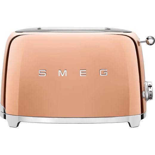Smeg 50's Retro TSF01RGUK 2 Slice Toaster - Rose Gold