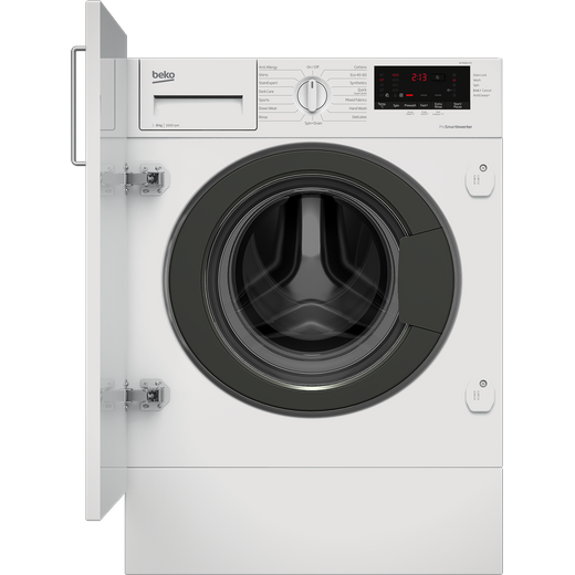 Beko RecycledTub™ WTIK86151F Integrated 8Kg Washing Machine with 1600 rpm - White - C Rated
