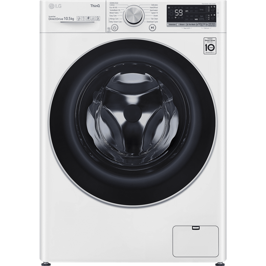 LG V7 F4V710WTSA Wifi Connected 10.5Kg Washing Machine with 1400 rpm - White - B Rated