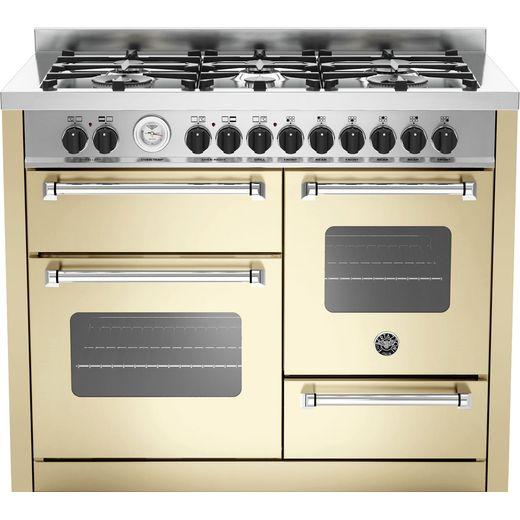 Bertazzoni Master Series MAS110-6-MFE-T-CRE 110cm Dual Fuel Range Cooker - Cream - A/A Rated