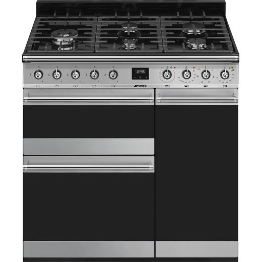Smeg Symphony SY93-1 Dual Fuel Range Cooker - Stainless Steel - A/B Rated