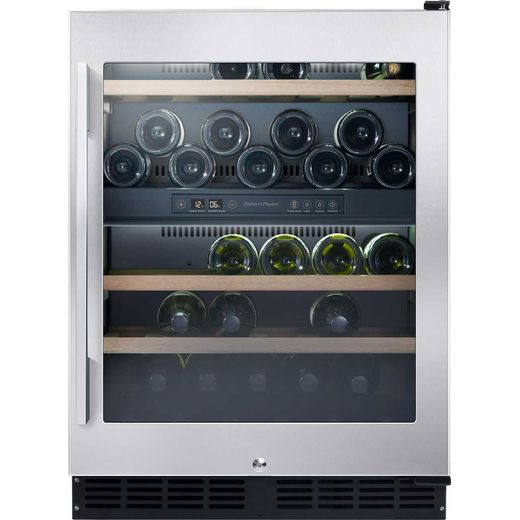 Fisher & Paykel RS60RDWX1 Built In Wine Cooler - Stainless Steel - G Rated