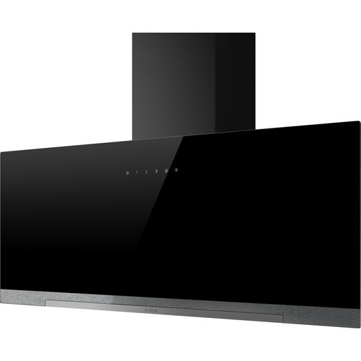 Elica APLOMB-BLK-90 90 cm Chimney Cooker Hood - Black Glass - A Rated