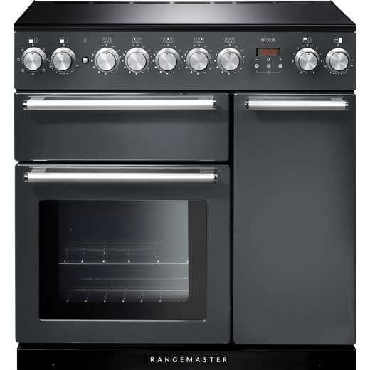 Rangemaster Nexus NEX90EISL/C 90cm Electric Range Cooker with Induction Hob - Slate - A/A Rated