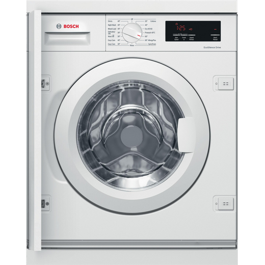 Bosch Serie 6 WIW28301GB Integrated 8Kg Washing Machine with 1400 rpm - White - C Rated