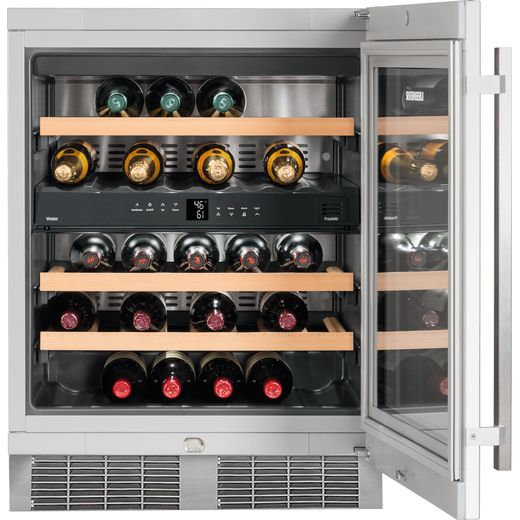Liebherr UWTes1672 Built In Wine Cooler - Stainless Steel - G Rated