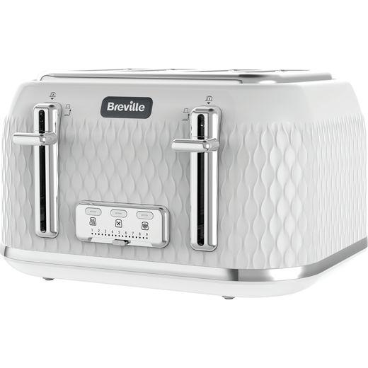 Breville Curve VTT911 4 Slice Toaster - White
