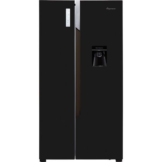 Fridgemaster MS91515BFF American Fridge Freezer - Black - F Rated
