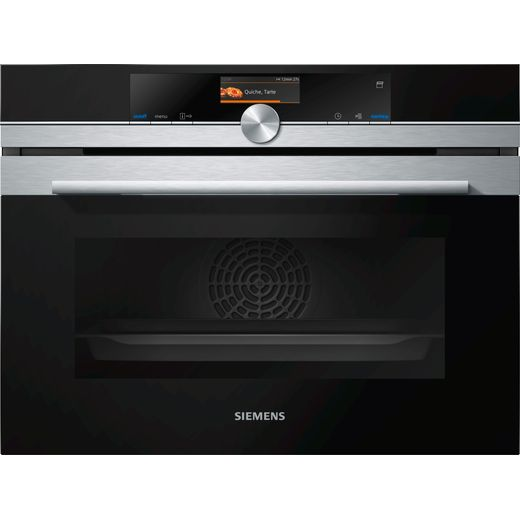 Siemens IQ-700 CS656GBS7B Wifi Connected Built In Compact Electric Single Oven with added Steam Function - Stainless Steel - A+ Rated