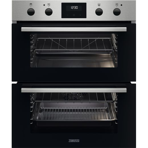 Zanussi ZPHNL3X1 Built Under Electric Double Oven - Black - A Rated