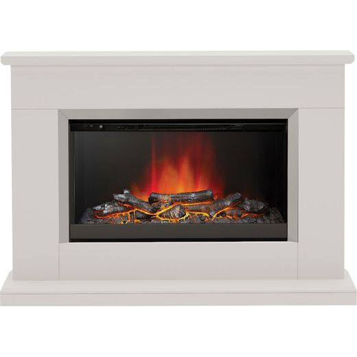 BeModern Hansford 3727 Log Effect Suite And Surround Fireplace - Cashmere