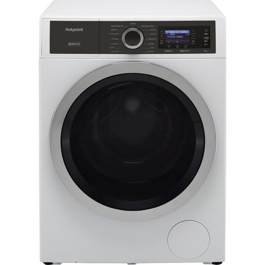 Hotpoint GentlePower H8W946WBUK 9Kg Washing Machine with 1400 rpm - White - A Rated