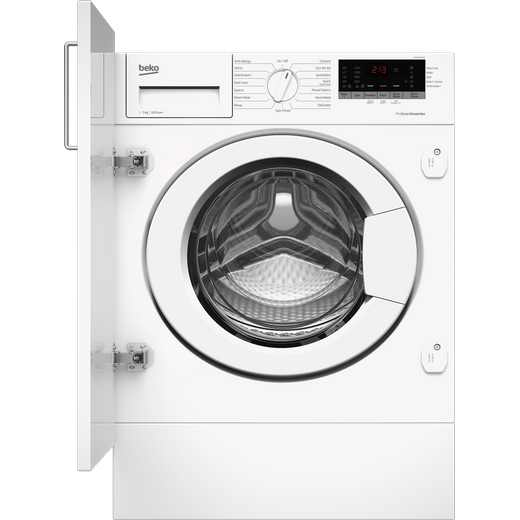 Beko WTIK76151F Integrated 7Kg Washing Machine with 1600 rpm - White - C Rated