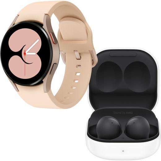 Samsung Galaxy Watch4 + Buds2 Bundle, GPS - 40mm - Pink Gold