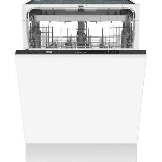 Hisense HV60340UK Fully Integrated Standard Dishwasher - Black Control Panel with Fixed Door Fixing Kit - D Rated