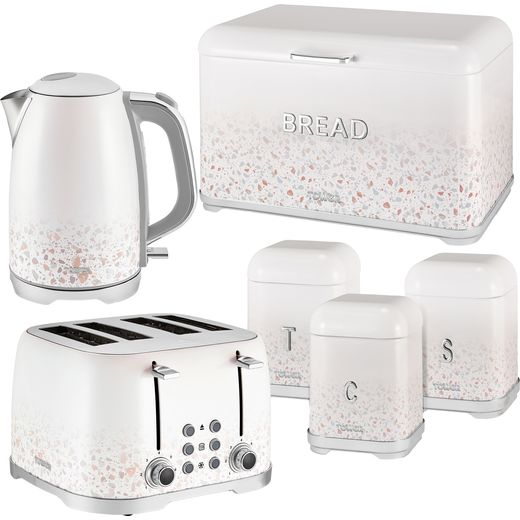 Tower Terrazzo AOBUNDLE031 Kettle And Toaster Set - White