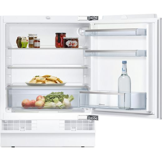 NEFF N50 K4316XFF0G Integrated Under Counter Fridge - Fixed Door Fixing Kit - White - F Rated
