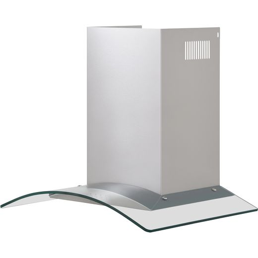 Baumatic BECH60GL 60 cm Chimney Cooker Hood - Stainless Steel / Glass - C Rated