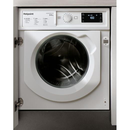 Hotpoint BIWDHG861484UK Integrated 8Kg / 6Kg Washer Dryer with 1400 rpm - White - D Rated
