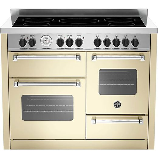 Bertazzoni Master Series MAS110-5I-MFE-T-TCRE 110cm Electric Range Cooker with Induction Hob - Cream - A/A Rated