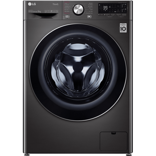LG V9 F6V909BTSA Wifi Connected 9Kg Washing Machine with 1600 rpm - Black Steel - A Rated