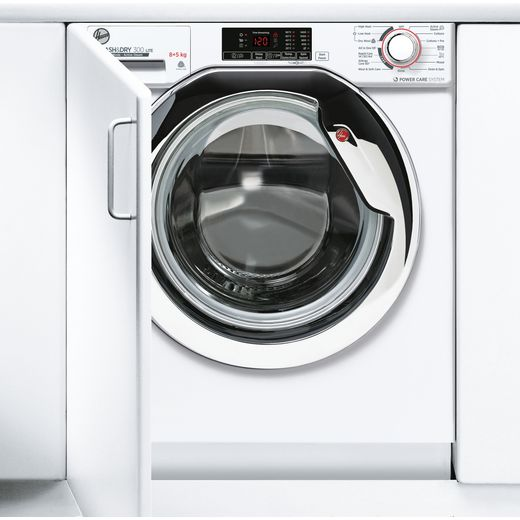 Hoover H-WASH&DRY 300 LITE HBDS485D1ACE Integrated 8Kg / 5Kg Washer Dryer with 1400 rpm - White - E Rated