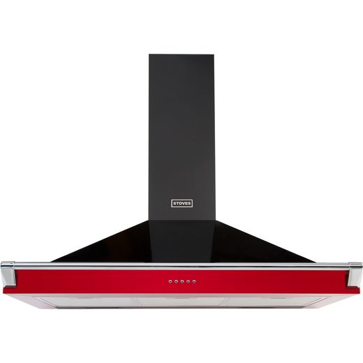 Stoves S1100 RICH CHIM RAIL 110 cm Chimney Cooker Hood - Hot Jalapeno - A Rated