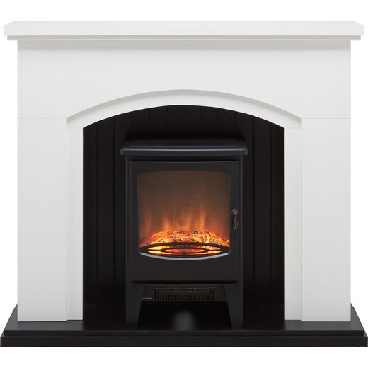 Warmlite Newcastle WL45045 Log Effect Suite And Surround Fireplace - Cream