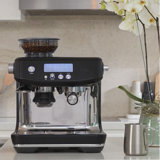 Sage The Barista Pro™ SES878BTR Espresso Coffee Machine with Integrated Burr Grinder - Black Truffle