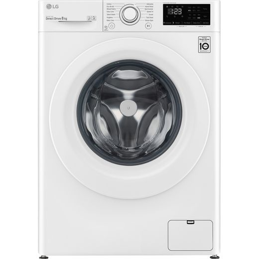 LG V3 F4V308WNW 8Kg Washing Machine with 1400 rpm - White - C Rated