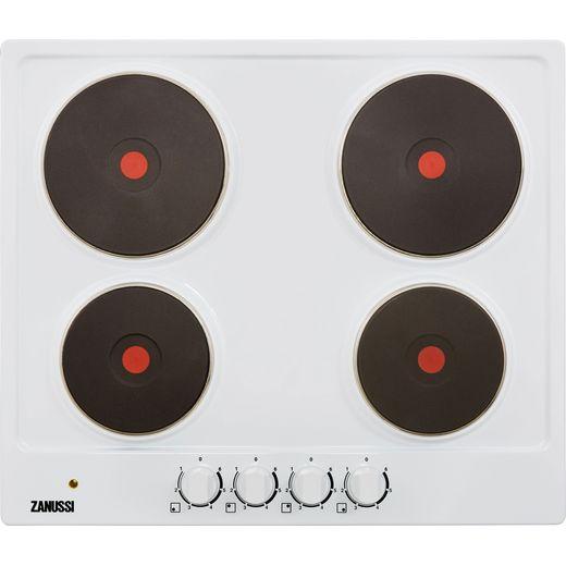 Zanussi ZEE6942FWA 59cm Solid Plate Hob - White