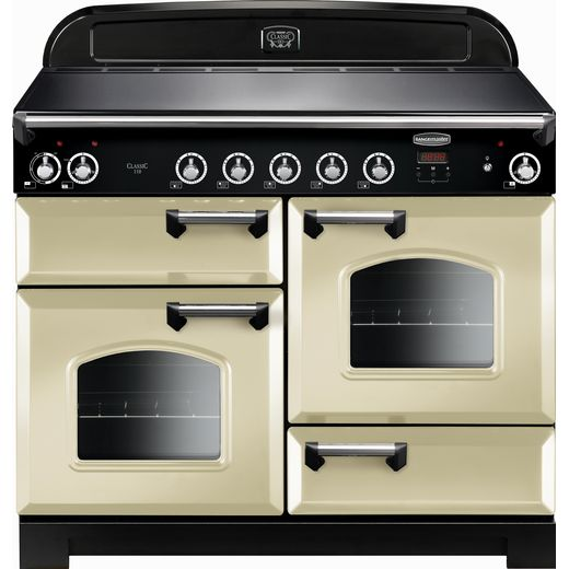 Rangemaster Classic CLA110EICR/C 110cm Electric Range Cooker with Induction Hob - Cream / Chrome - A/A Rated