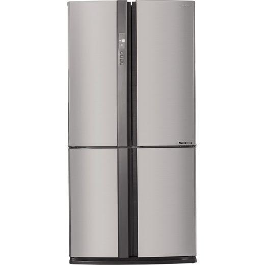 Sharp SJ-EX820F2-SL American Fridge Freezer - Silver - F Rated