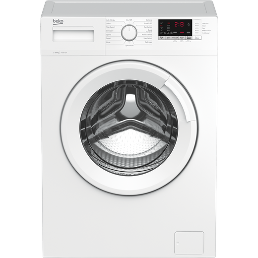 Beko WTK104151W 10Kg Washing Machine with 1400 rpm - White - B Rated