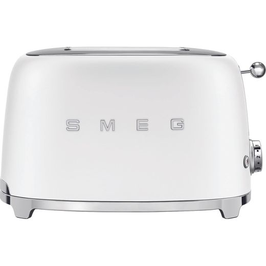 Smeg 50's Retro TSF01WHMUK 2 Slice Toaster - Matte White