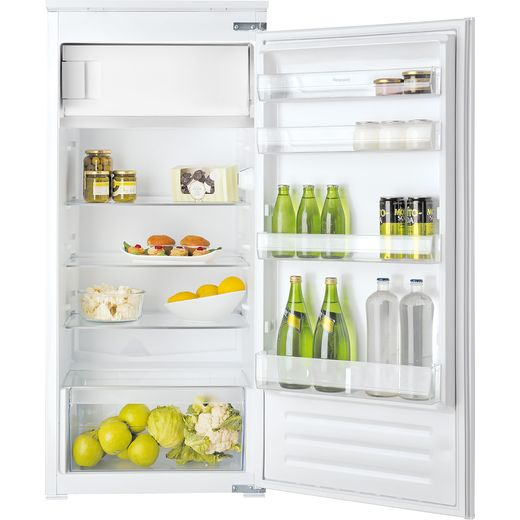 Hotpoint HSZ12A2D.UK1 Integrated Upright Fridge with Ice Box - Sliding Door Fixing Kit - White - F Rated