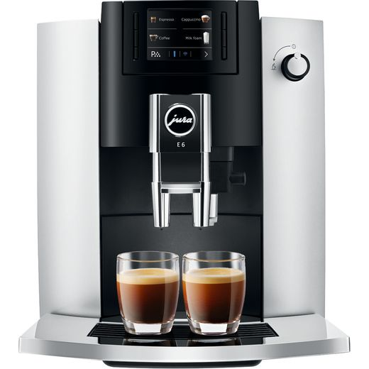 Jura E6 15342 Bean to Cup Coffee Machine - Platinum