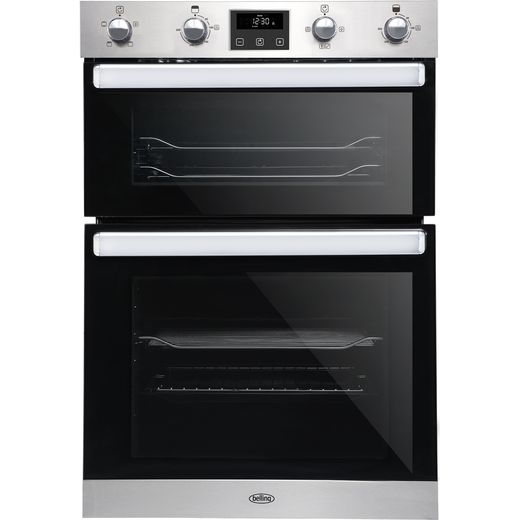Belling BI902FP Built In Electric Double Oven - Stainless Steel - A/A Rated
