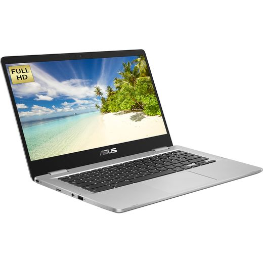 """Asus C423NA 14"""" Chromebook Laptop - Silver"""